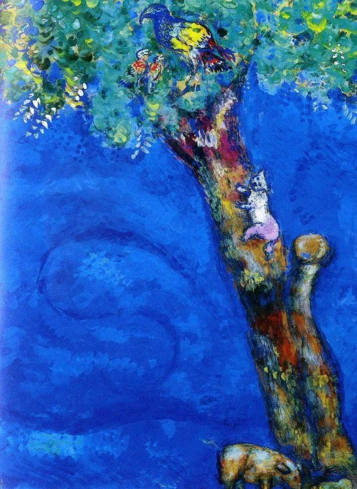 Marc Chagall & Jean de La Fontaine | Favole a Colori | Tutt'Art@ | Pittura * Scultura * Poesia * Musica |