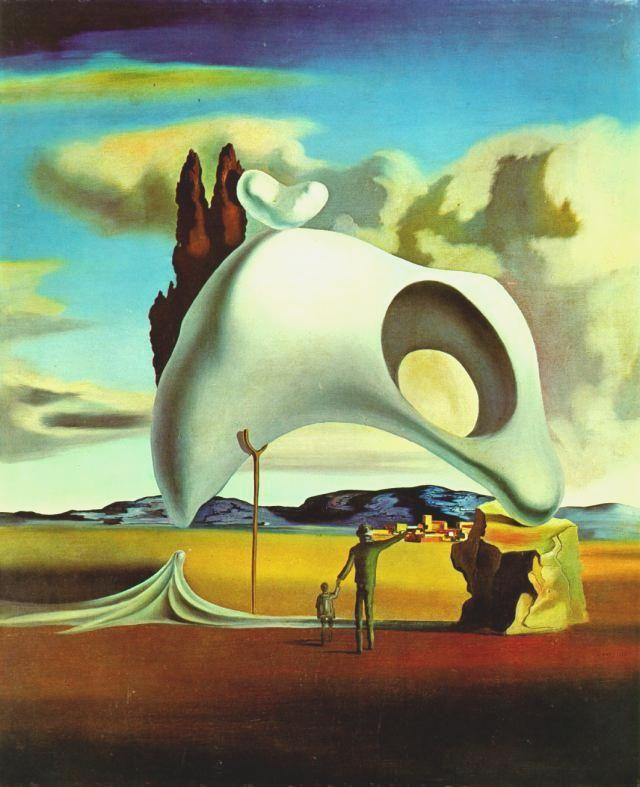 Salvador Dali >> Vestiges ataviques après la pluie, 1934  |  (huile, reproduction, copie, tableau, oeuvre, peinture).