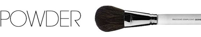 You should have a large, fluffy brush for applying bronzer. Swirl it in the product and do a wash on the cheeks, forehead, and down the nose.  TRY: Obsessive Compulsive Cosmetics large Powder Brush, $28