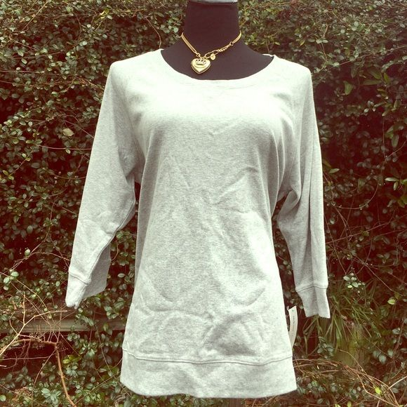 NWT XL Style & Co.  sport light gray Heather top This is a very nice style and Company sport top and size extra large. It is brand-new with tags's 60% cotton 40% polyester style number WPL8046. Retail value 44.50. Fitz and flatters, light Heather gray in color. Style & Co Tops