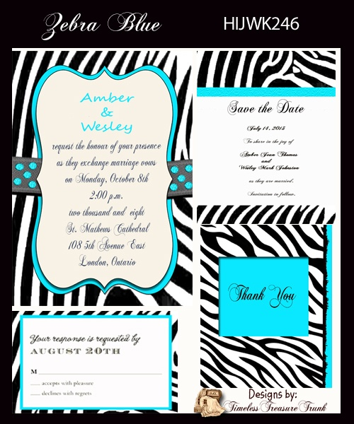Zebra Stripes Wedding Invitations Print Them Yourself