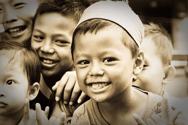 Village children, East Kalimantan.