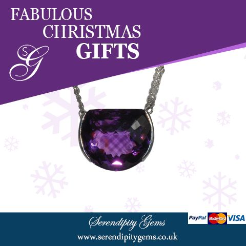 Be in the spotlight with this truly gorgeous piece of jewellery:  33 carats of vibrant amethyst £375 from www.serendipitygems.co.uk  Find this product: http://goo.gl/ZxuRYF