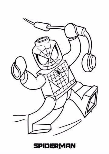 dibujos para colorear del hombre araña para niños