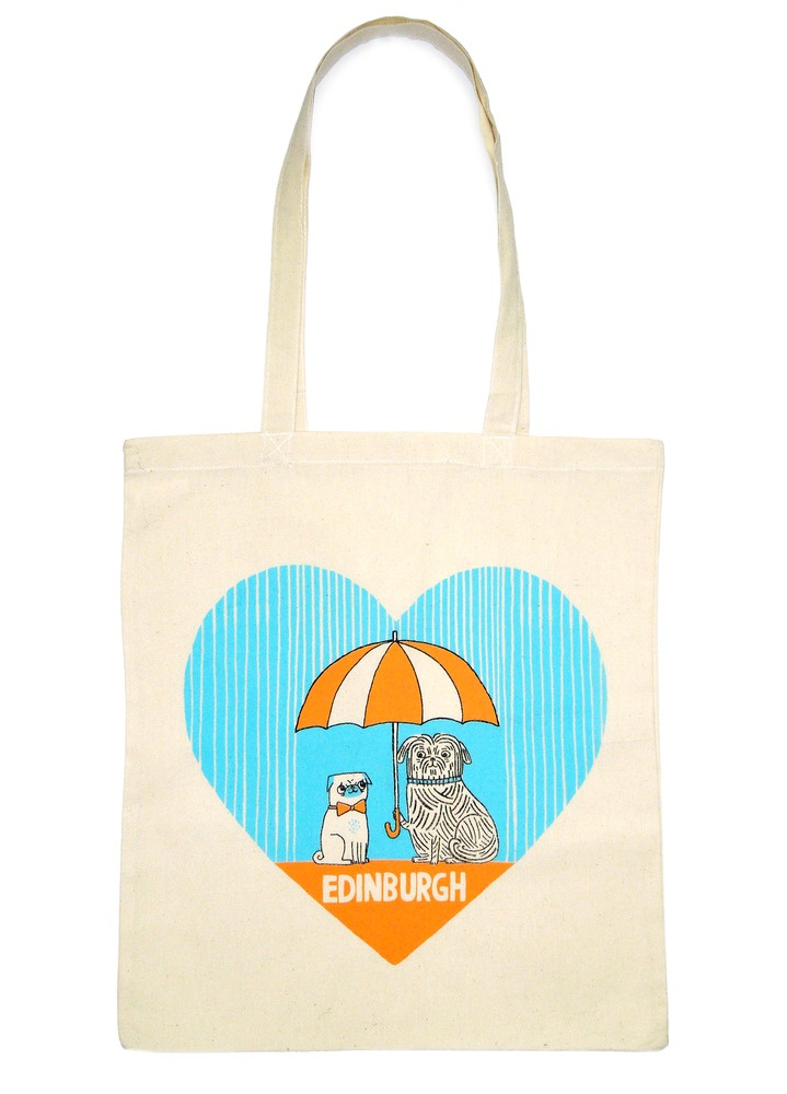 Greyfriars Bobby tote by Gemma Correll – exclusive to http://www.totesamazed.co.uk and Hannah Zakari (Edinburgh) £10