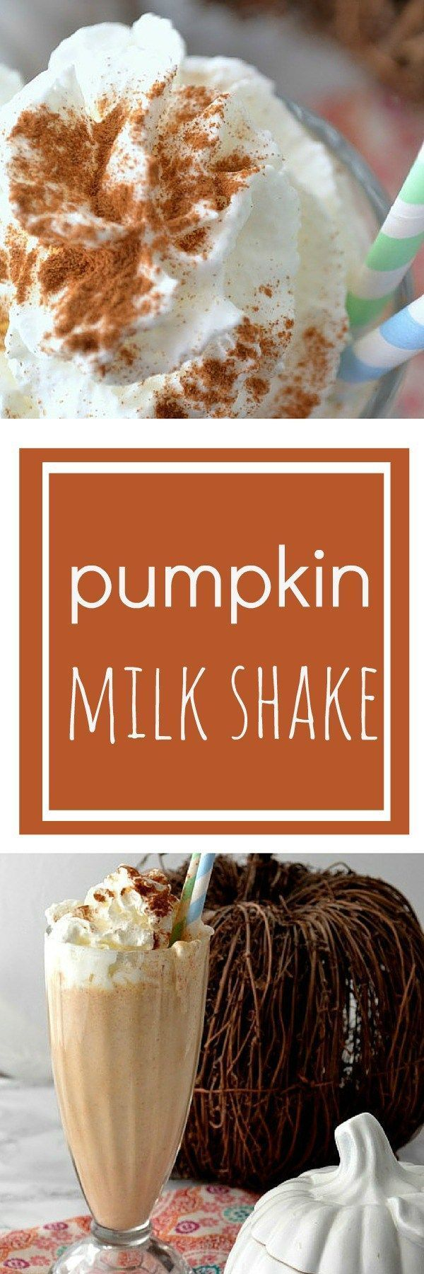 I'm addicted to pumpkin milkshakes now! This one is a great recipe for fall...or any time you feel like a milk shake.
