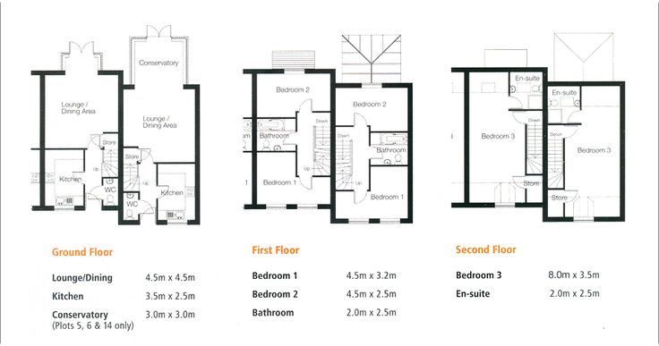 Town House Floor Plans