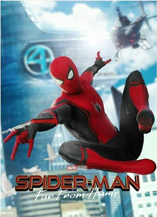 "Spiderman Far From Home Poster Marvel Movie Character Print 11x17/"" 24x36/"" 27x40/"""