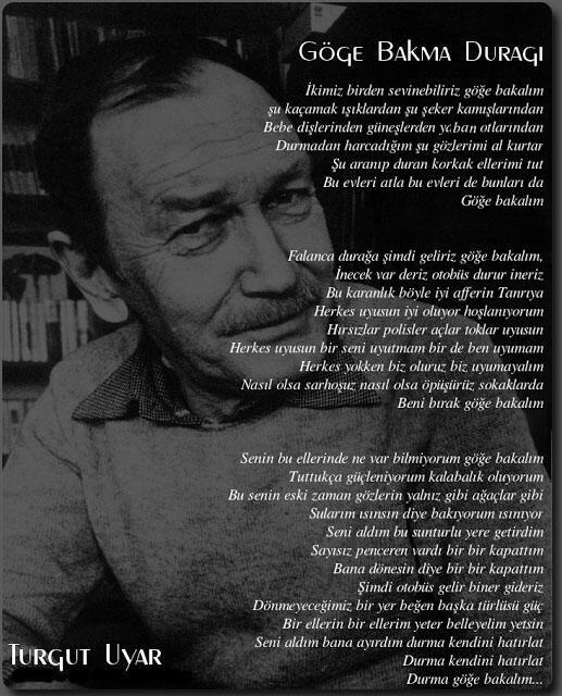 #turgutuyar #şiir (Şiir içimizde!) Göğe bakalım
