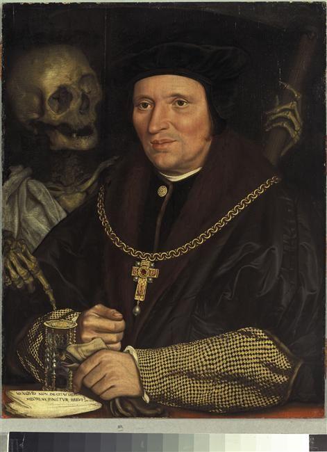 Holbein Hans, le Jeune (1497-1543) - Portrait de Sir Brian Tuke - Huile s/ panneau