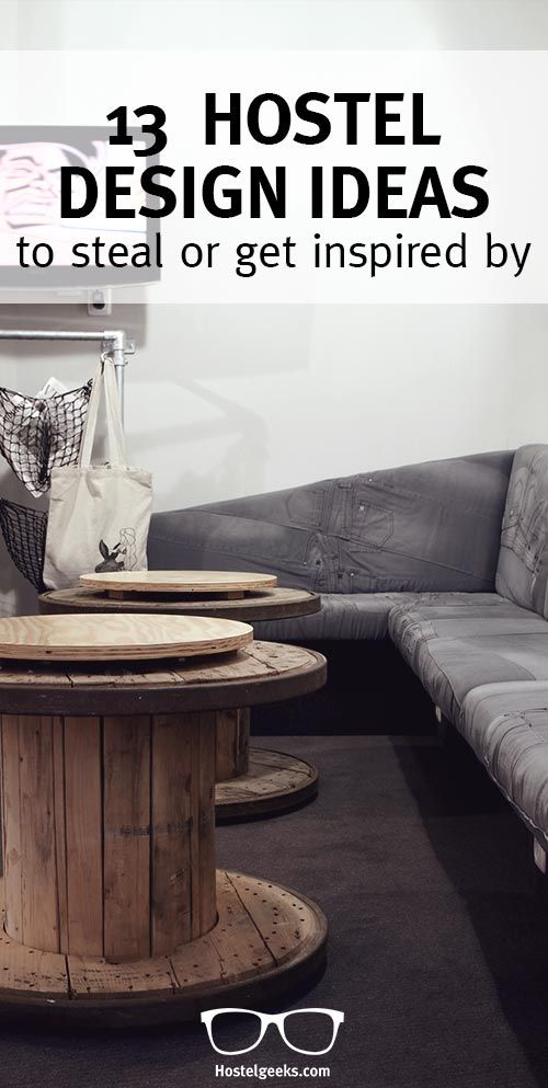 Creative ideas that you can simply steal from Hostels (or, well, borrow!) for your own home decoration. Check them out at http://hostelgeeks.com/creative-hostel-design-ideas/