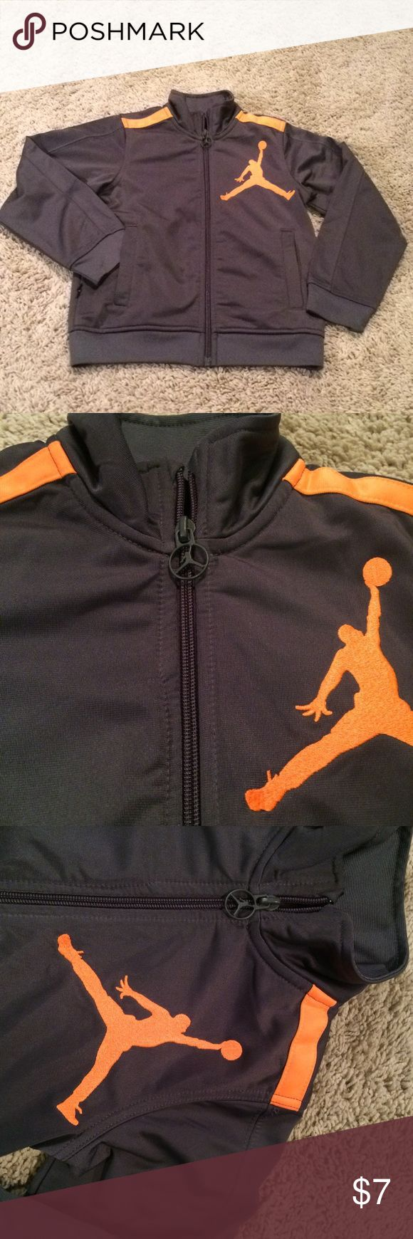 Michael Jordan jacket EUC. The orange is a little brighter than its showing in the pictures Michael Jordan Jackets & Coats