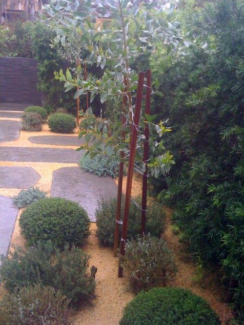 Stone slabs and pea gravel: Peas Gravel Patio, Peter O'Toole, Peas Stones, Fudge Gardens, Concrete Stones, Peter Fudge, Gardens Design, Products, Dreams Gardens