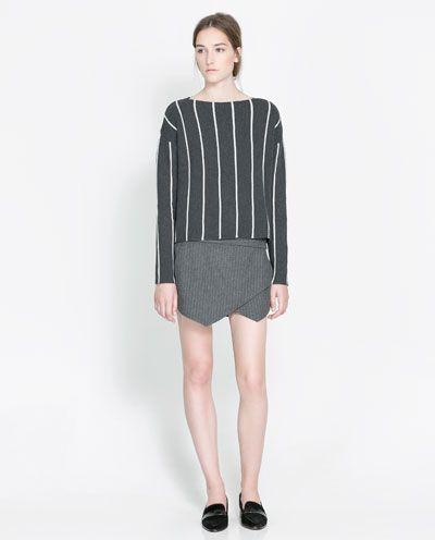 PINSTRIPE SKORT - Skirts - Woman - New collection | ZARA United States