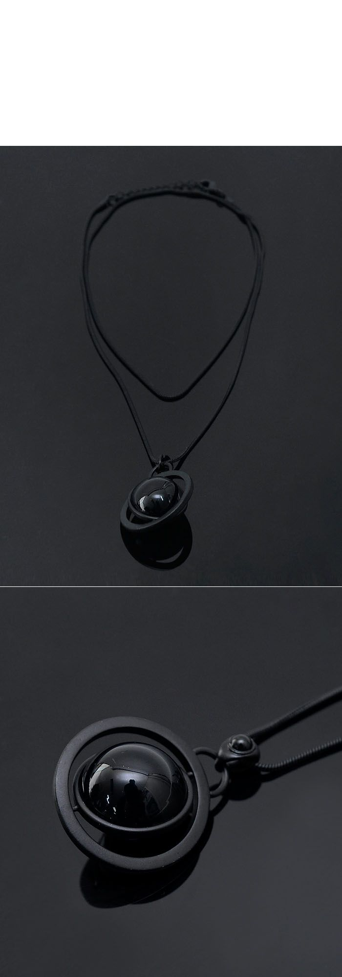 Accessories :: Necklaces :: Unique Spinning Circle Space-Necklace 180 - Mens Fashion Clothing For An Attractive Guy Look