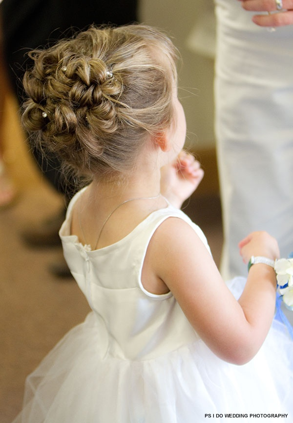 Curly Updo For Flower Girl Crazy For Kids Pinterest