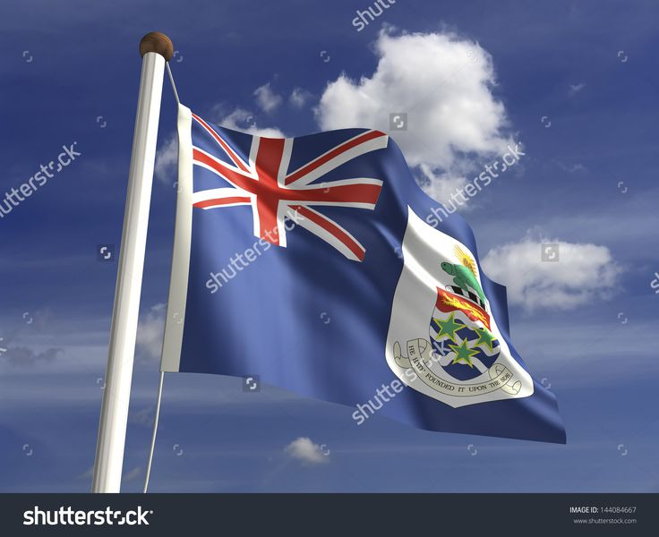 Cayman Islands flag (with clipping path)