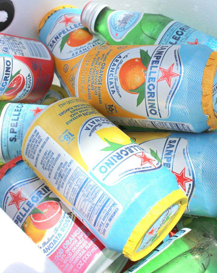 San Pellegrino sparkling sodas. So. Good.