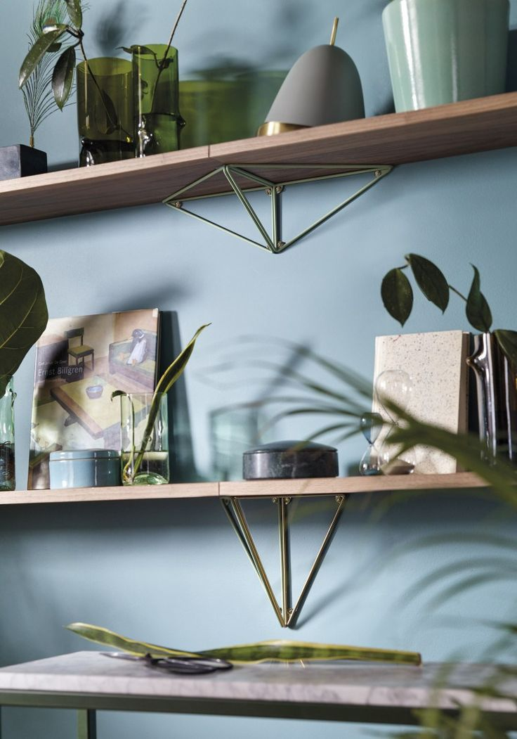 Clever shelving brackets by Maze interiors