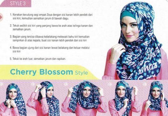 Tutorial Hijab Segi Empat Elzatta Kerudung Sematan Bahu