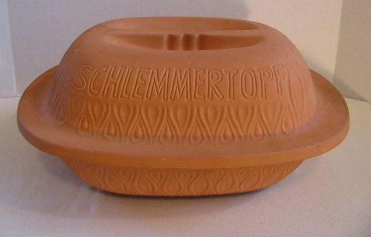 Schlemmertopf Keramik Terra Cotta Clay Dutch Oven Roaster