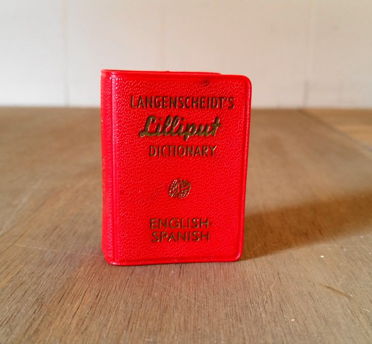Vintage Langenscheidt's Lilliput English Spanish Dictionary Published by Barnes & Noble Inc. Printed in Germany 1960's by iloveyoumore on Etsy
