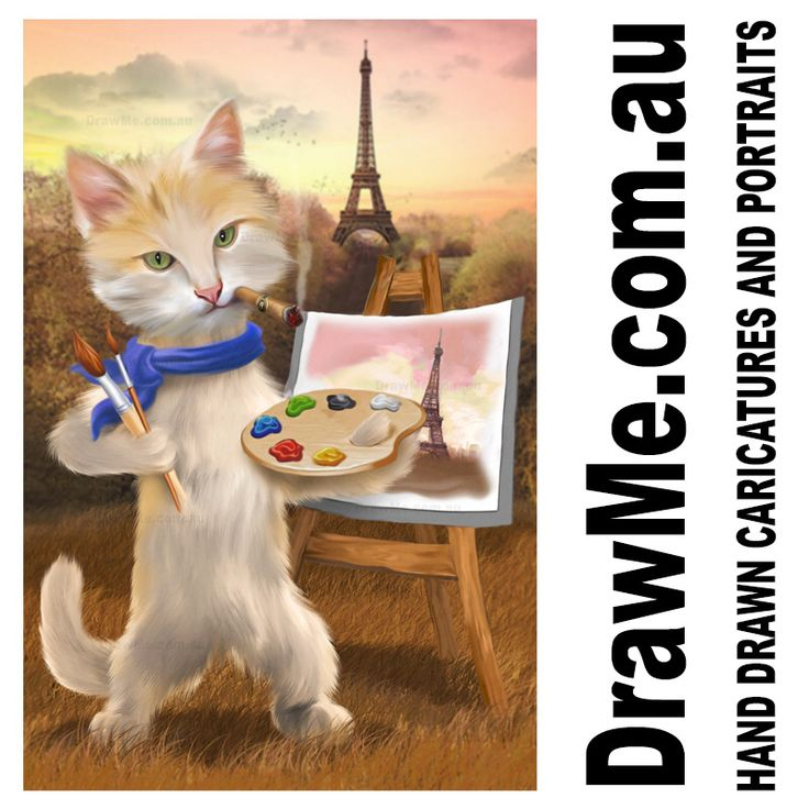 Cat portrait from www.DrawMe.com.au great as a unique gift