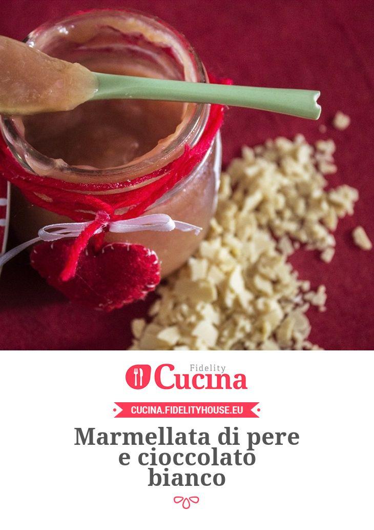 Marmellata di pere e cioccolato bianco della nostra utente Elena. Unisciti alla nostra Community ed invia le tue ricette!