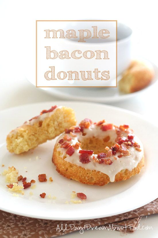 Maple Bacon Donuts - sugar-free and grain-free, a healthy take on the donut shop favourite.