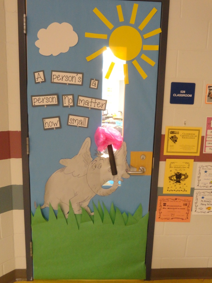 Classroom Design Psychology : Horton hears a who door kindergarten dr seuss pinterest