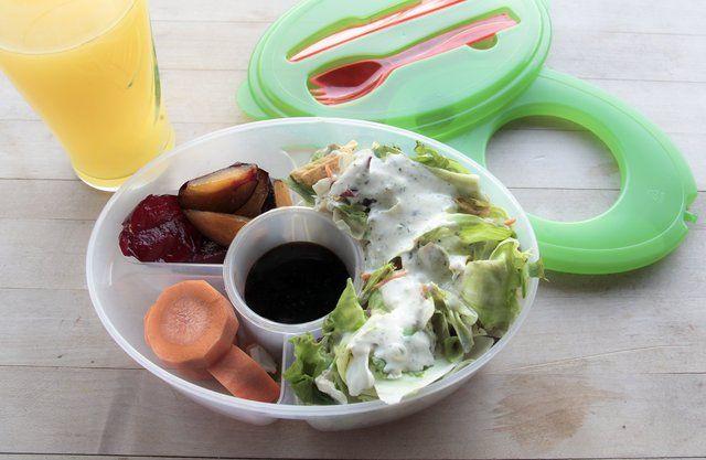 Fancy - Six-Piece Salad to Go Lunch Box