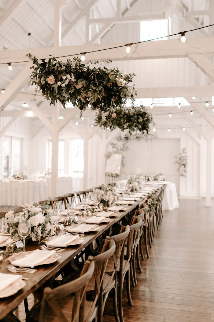 Neutral And Natural Tulsa Wedding Inspired By The White Barn Venue At Spain Ranch Junebug Weddings In 2020 Elegant Wedding Venues Barn Wedding Reception Barn Venue