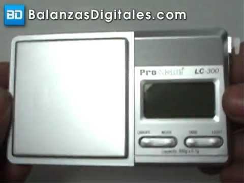 Balanza Digital ProScale LC-300 - Manual de uso y calibración -