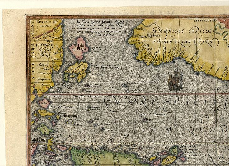 Ortelius Pacific 3. Древние карты мира в высоком разрешении - Старинные карты