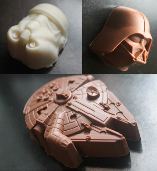 I HAVE TO HAVE THIS AT MY WEDDING. Star Wars chocolates filled with Brazilian brigadeiro.