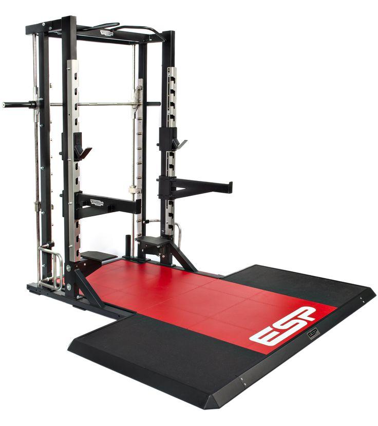 Compact esp lifting platform smith machine for