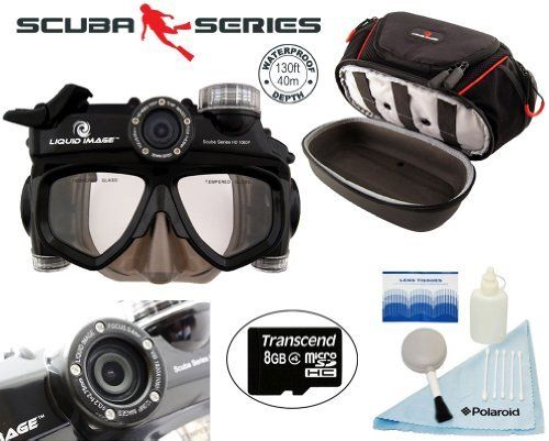 Liquid Image XSC Scuba Series HD1080P Underwater Still/Video Camera by Liquid Image. $449.00. The Wide Angle Scuba Series HD is an integrated dive mask/camera that records HD 720P video (1280x720) at 30fps along with 5.0MP still images. The depth rating on this new model is 40m/130ft, which covers depths reached by certified recreational divers. The mask has a micro SD/SDHC card slot and comes with a 2GB micro SD card. The memory can expand up to 32GB, to record thousands...