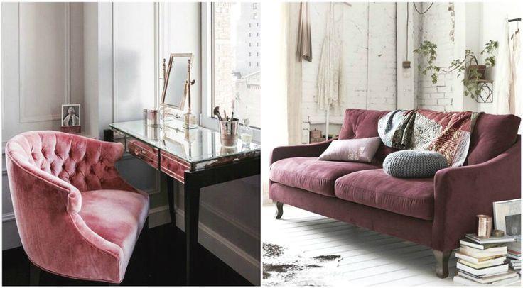 Бархатные предметы мебели в интерьере #дизайн #интерьер #декор #тренды #стиль
