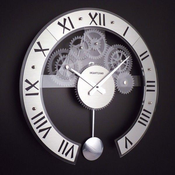 Lifeup orologio da parete grandi argento adesivi murali decorazioni da parete muri moderni fai - Orologi moderni da parete ...