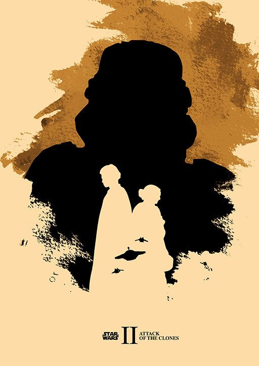 Star Wars Trilogy Poster Set / The Phantom Menace by moonposter