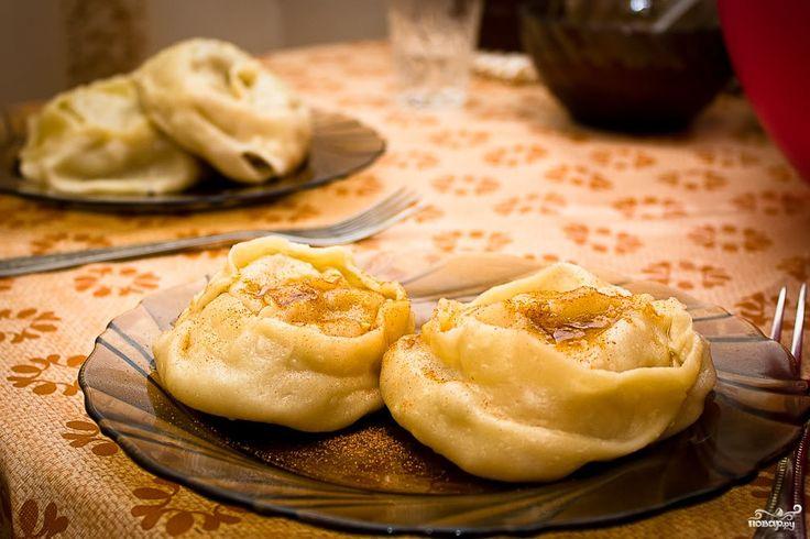 Манты с тыквой и мясом по-узбекски
