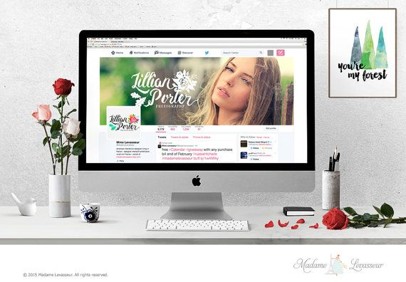 Wordpress header design Facebook cover Twitter Cover Design Website Header Blog