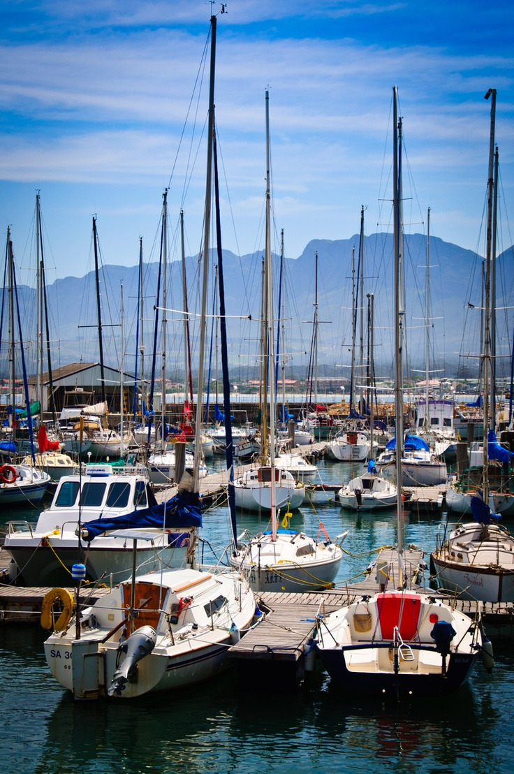 """Sailboats"" – Gordon's Bay, South Africa Beautiful area. Must go back some day."