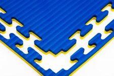 sportmatten met puzzelrand: Gladiator 2 cm blauw/geel