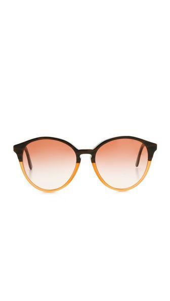 Stylish sunglasses always finish off a summer look. Stella McCartney oversized round sunglasses. #Fashion #Accessories #Sunglasses