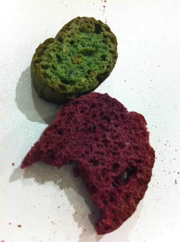 French beetroot and spinach bread