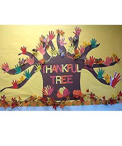 Bulletin Board for November: a hand a day with thankfulness