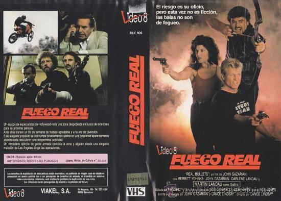 #preBrexit ••• Real Bullets (aka Fuego real in EU Spain, starring [Martin Landau], US production, 1988, PAL VHS, Video 8, Viakel, S.A.). ••• #Elokuvat #Arthouse #näyttelijät #Španjolska #Brexploitation #CommonMarket #Bmovie #Exploitation #Swede #Indie #Cannes #Deauville #Venezia #BBFC #Pamplona #Bilbao #Gibraltar #Pyrenees #Tuliaseet #Taidot #Vuoret #Mäet #Boogschutter #Toiminta #Vidmark #Iruña #España #Vissen #Widder #Schorpionen #Sims #Sims2 #EA #Handball #Hockey #AmyBlue #Punk #Goth…