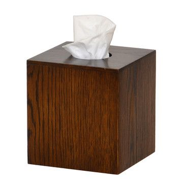 Mezza Tissue Box Cube Dark Oak. So your Kleenex box isn't classy enough? For a mere $45, egocentric yuppie relief can be yours. #firstworkdproblems in an especially shameful way.