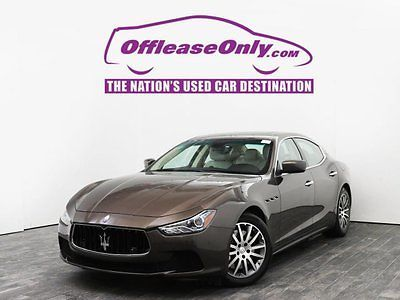 2014 Maserati Ghibli S Q4 AWD Off Lease Only Brown 2014 MaseratiGhibliS Q4 AWD with 17805 Miles
